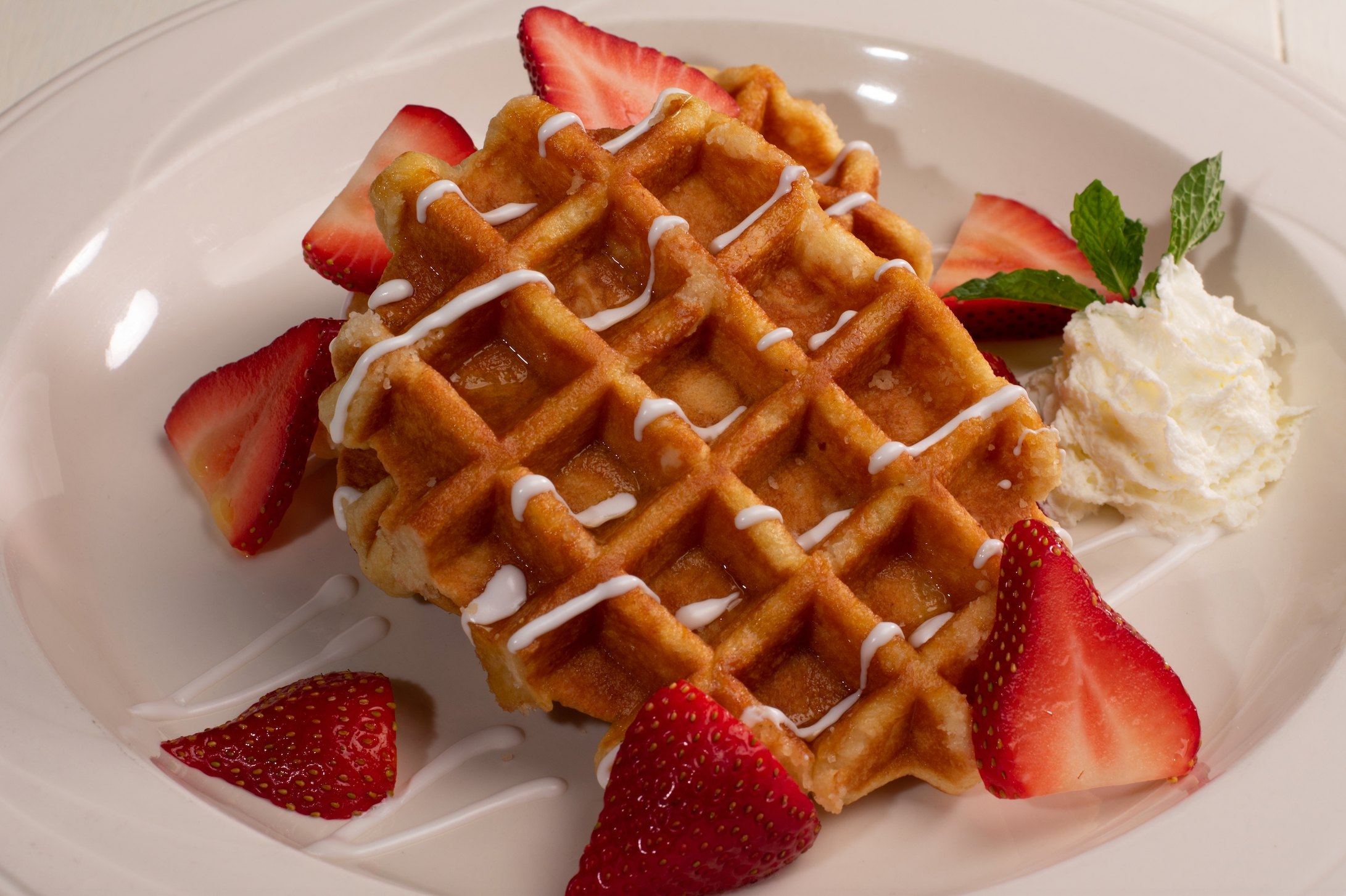 Strawberries & Cream Waffle