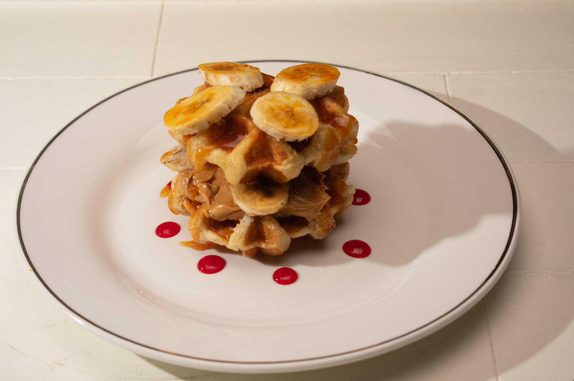 Elvis Waffle Sandwich